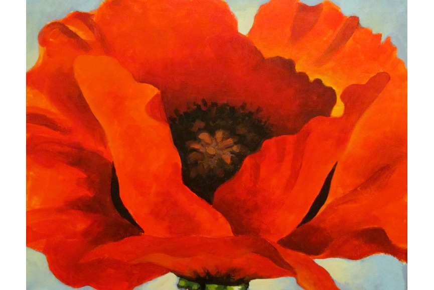 This image has an empty alt attribute; its file name is Georgia-OKeeffe-RedPoppy-1927.jpg