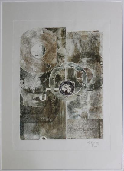 Gerard Renvez-Abstract Composition-2001