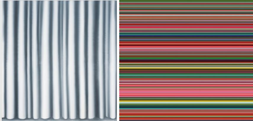 Gerhard Richter - Curtain IV, 1965, Strip, 2011