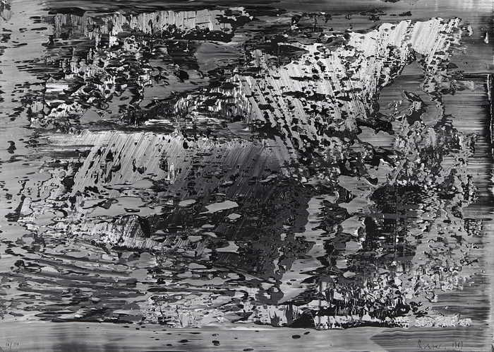 Gerhard Richter-Untitled (Abstract Photo CR 69)-1989