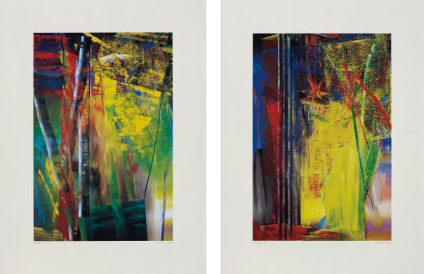 Gerhard Richter-Victoria I & II-1986