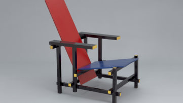 Gerrit Rietveld - Red Blue Chair. c. 1918