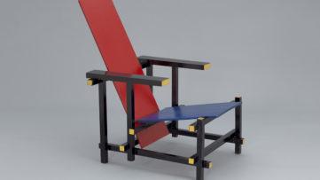 Gerrit Rietveld - Red Blue Chair. c. 1918