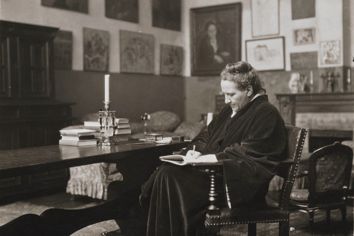 Gertrude Stein Writing at Her Home - Really everybody could write quote back in the day, but in order for the day for someone to view it to come, quotes needed to be like a thing of time - to know its long sense