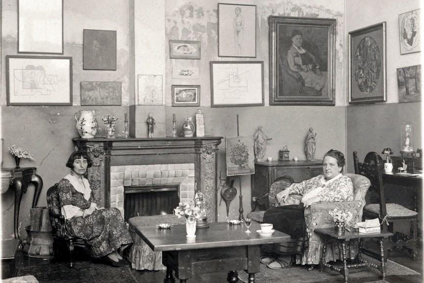 Gertrude Stein sitting with Alice B. Toklas, answer want answer want