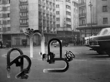 Geta Brătescu - Magnetii in Oras (Magnets in the City) (detail), 1974