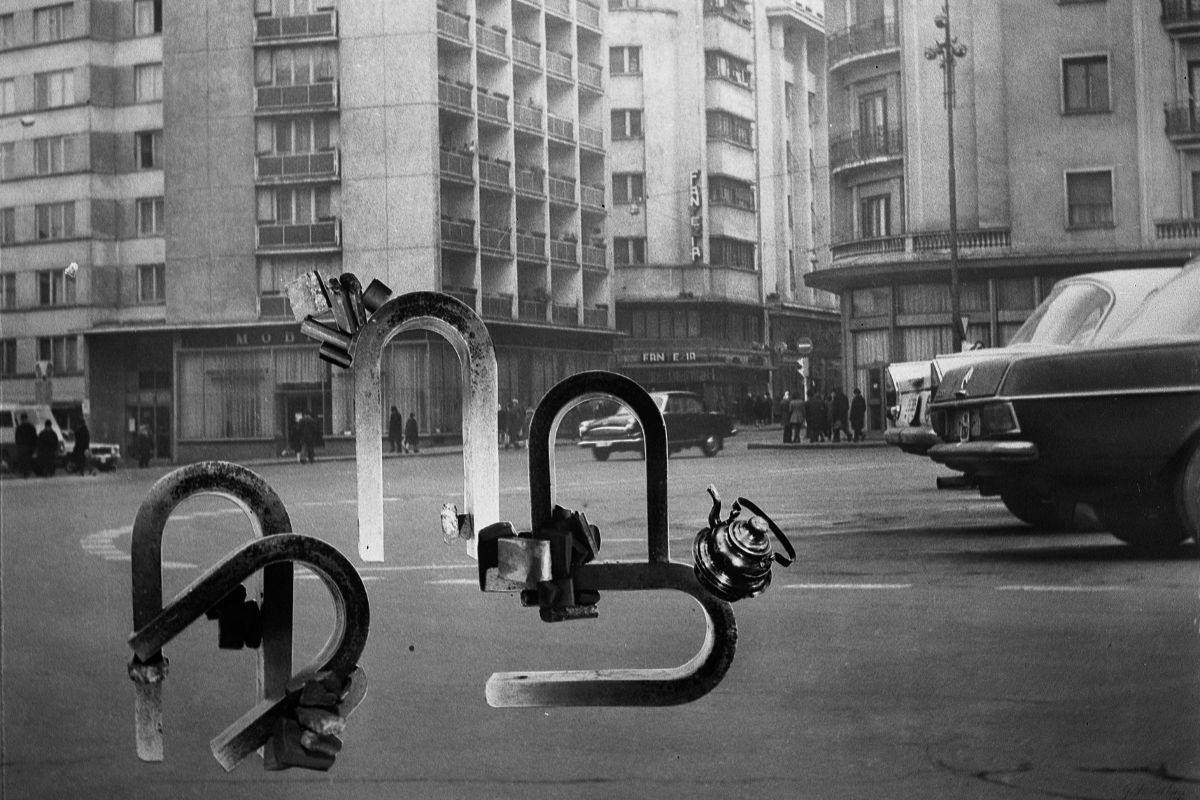 Geta Brătescu - Magnetii in Oras (Magnets in the City) (detail), 1974 - The Film & Arts Studio Museum in Bucharest, Romania, hosts gallery exhibitions of work by artists from the local biennale