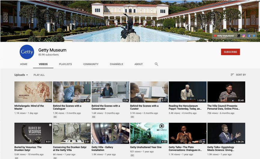 check out a video about art history at Getty Museum YouTube Channel