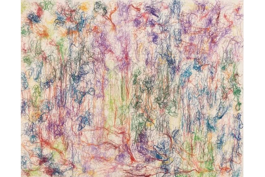 Ghada Amer - My Nympheas, via goodmangallery com