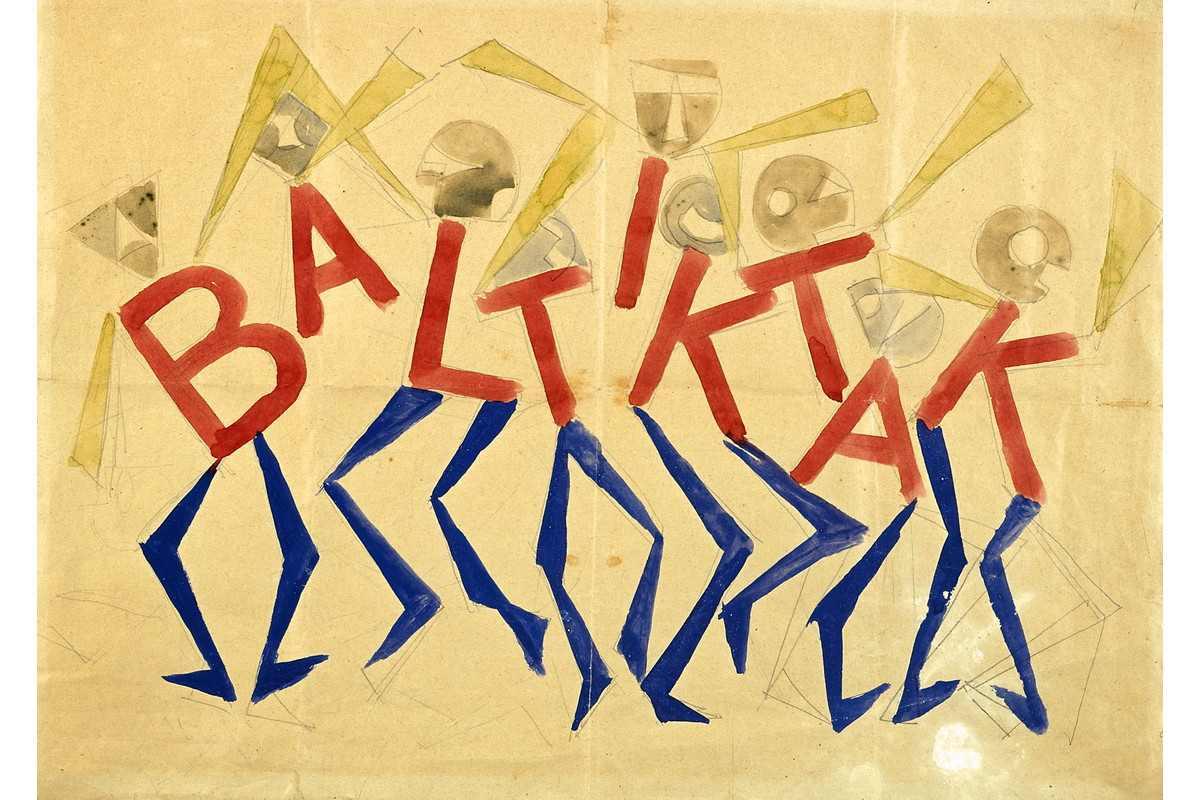 Giacomo Balla - Design for the sign and flashing light