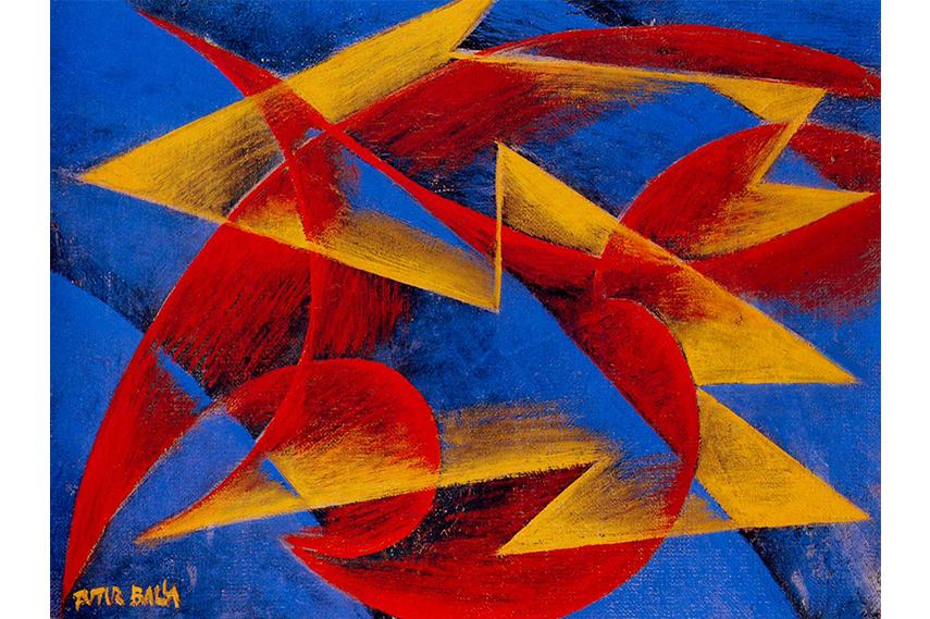 russian sculpture 20th grade including school architecture space music work expressionism 1910 Giacomo Balla - Line of speed, 1913
