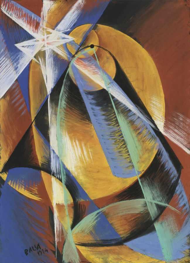 Giacomo Balla-Studio Per Mercurio Che Passa Davanti Al Sole Visto Dal Cannocchiale-1914