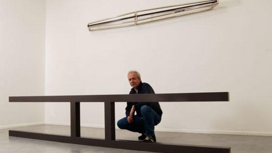 Gianni Piacentino's solo exhibition at Fondanzione Prada, 2015