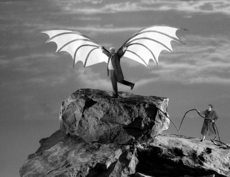 Gilbert Garcin - The flight of Icarus (after Leonardo da Vinci), 2005