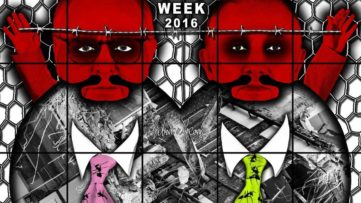 Gilbert & George - Beard Week, 2016 (detail)