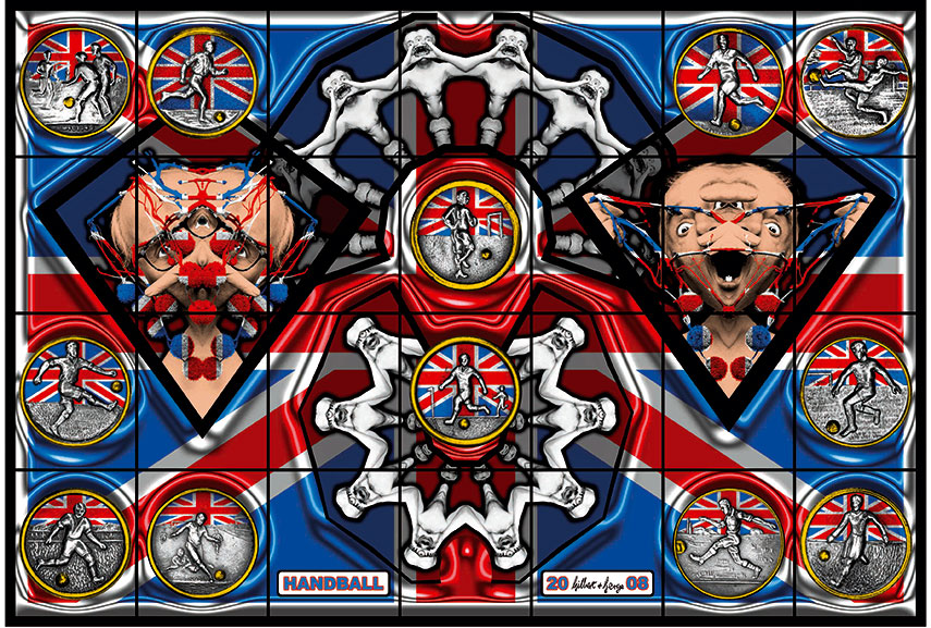 "Résultat de recherche d'images pour ""HANDBALL, Image courtesy Gilbert & George, White Cube and Albert Baronian Photo"""