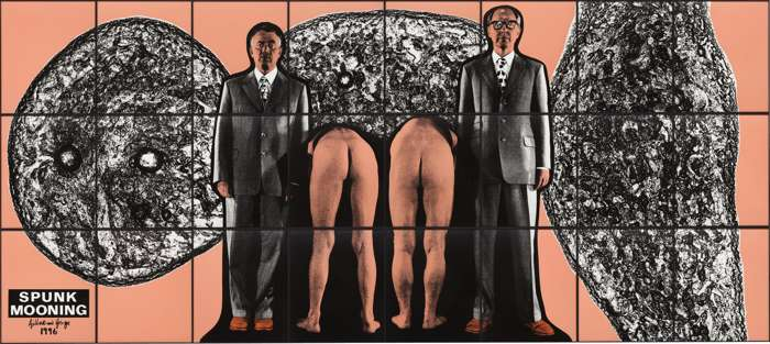 Gilbert and George-Spunk Mooning-1996