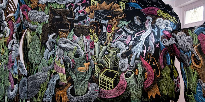 Gilbert Petit - Craies murales (detail)