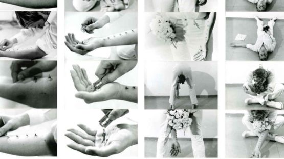 Gina Pane - Performance art - Image via parisphotocom