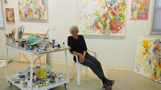 Gina Werfel in her studio