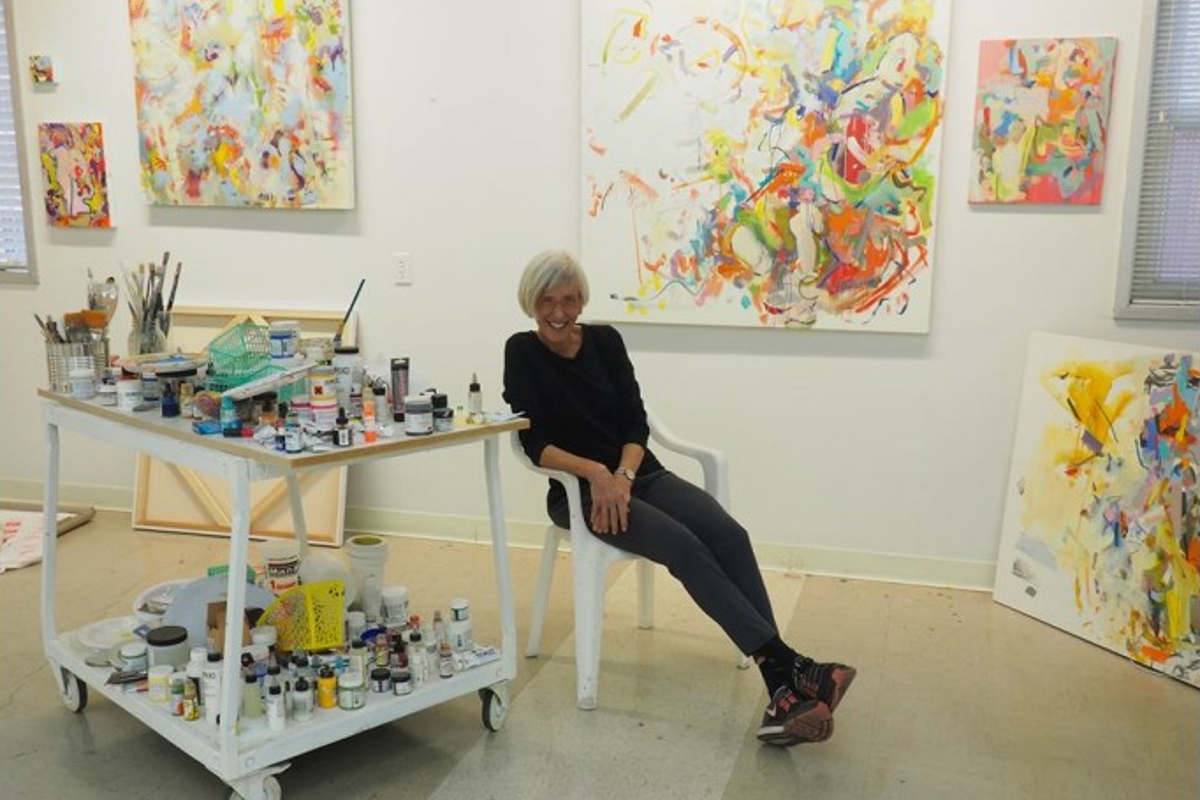 Gina Werfel in her studio