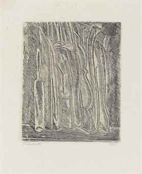 Giorgio Morandi-Natura morta con bottiglia e brocca-1915