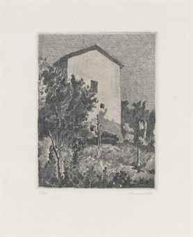 Giorgio Morandi-Paesaggio (Casa a Grizzana)-1927