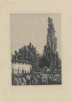 Giorgio Morandi-Paesaggio con il grande pioppo-1927