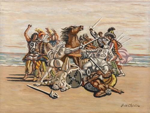 Giorgio de Chirico-Combattimento Di Puritani-1933