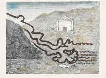 Giorgio de Chirico-Il Fiume Misterioso-
