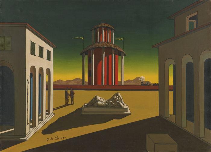 Giorgio de Chirico-Piazza D'Italia-1955