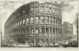Giovanni Battista Piranesi-Four Plates from Vedute di Roma 4-1757