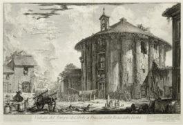 Giovanni Battista Piranesi-Four Plates from Vedute di Roma 4-1758