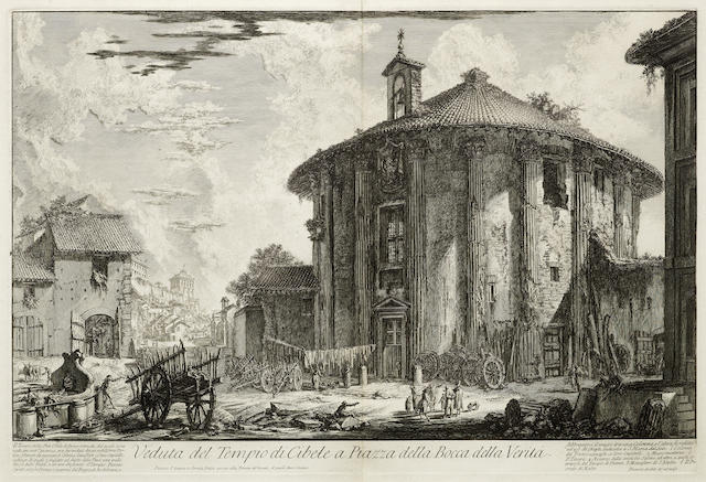 Giovanni Battista Piranesi-Four Plates from Vedute di Roma 4-1758