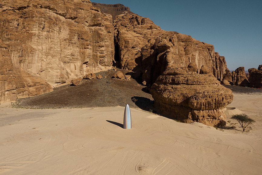 Gisela Colon - The Future is Now, Desert X AlUla 2020 in Saudi Arabia featuring 14 artists