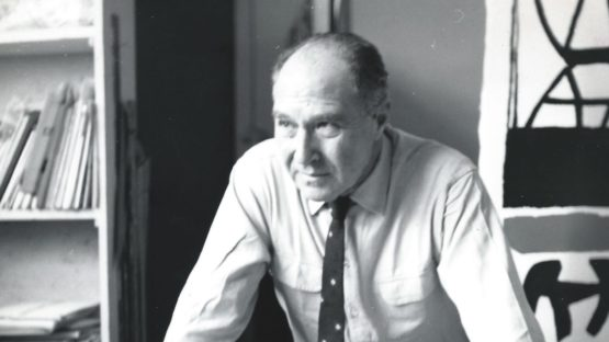 Giuseppe Capogrossi in his studio, 1961 - Copyright Fondation Capogrossi, Rome
