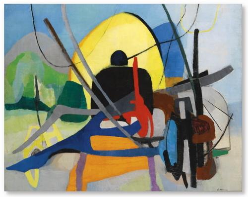 Giuseppe Santomaso-Composizione-1953