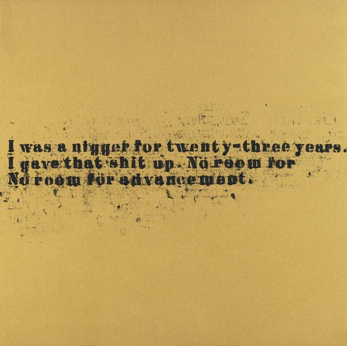 Glenn Ligon-No Room (Gold) #39-2007
