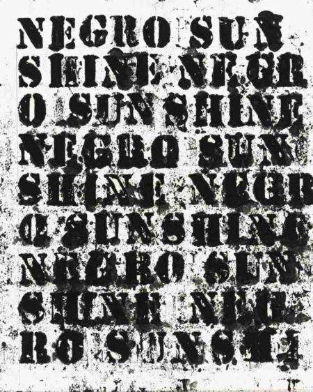 Glenn Ligon-Study For Negro Sunshine II #13-2011