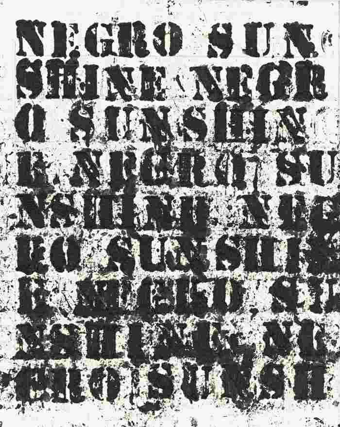 Glenn Ligon-Study For Negro Sunshine II #2-2011