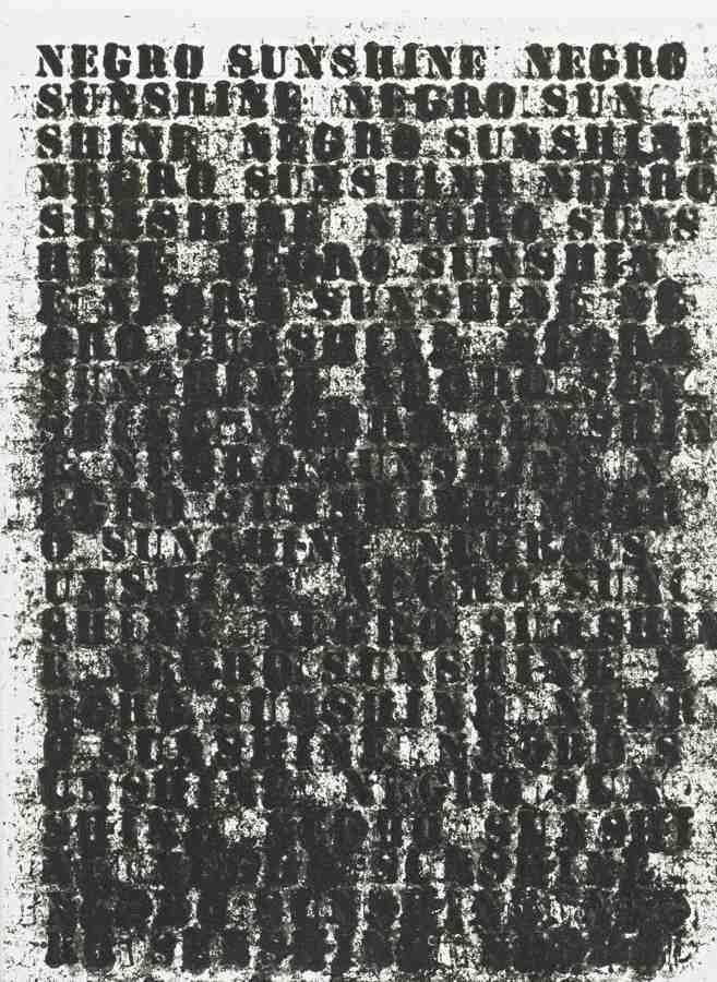 Glenn Ligon-Untitled (Negro Sunshine)-2004
