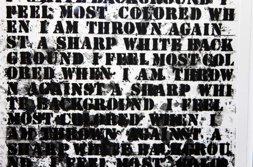 Glenn Ligon -  Untitled(Four Etchings)(detail) - Photo Credits Arts Observers - Contact Whitney for neon images