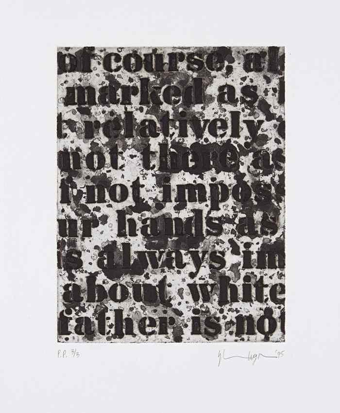 Glenn Ligon-White #1-1995