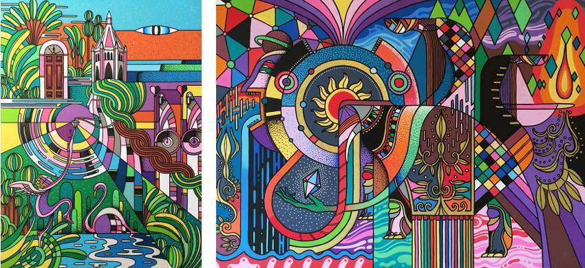 works by Go Suga - Oasis Hime (Left) / Oasis Hime (Right) - 2014, surf