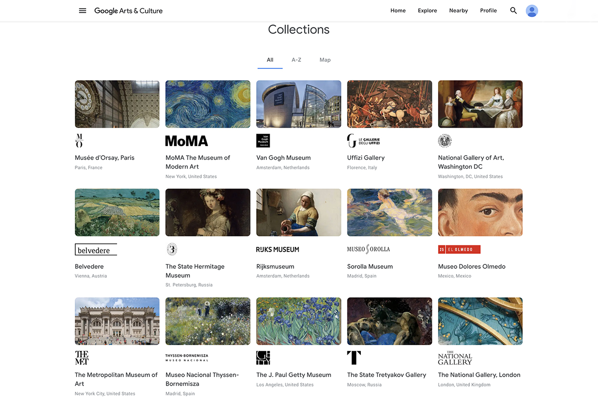 Google Arts Culture Art Museums to explore from your home