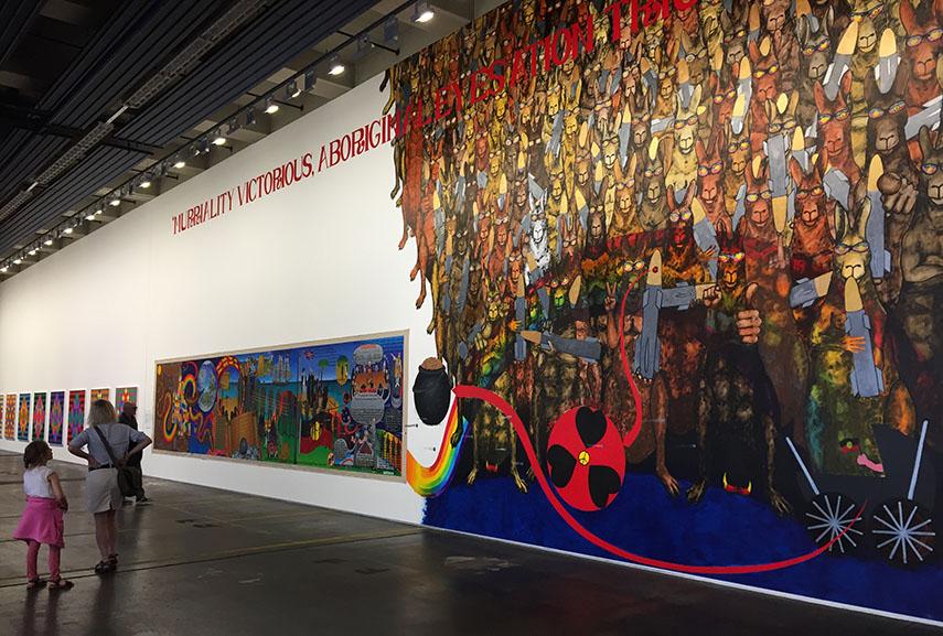 Gordon Hookey's mural