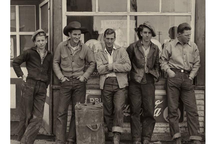 Gordon Parks - Drug store cowboys. Black Diamond, Alberta, Canada, 1945