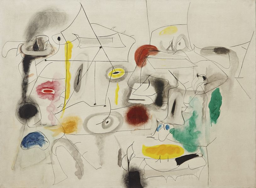 Arshile Gorky - Child's Companions, 1945; on view during 2017 as reported by news