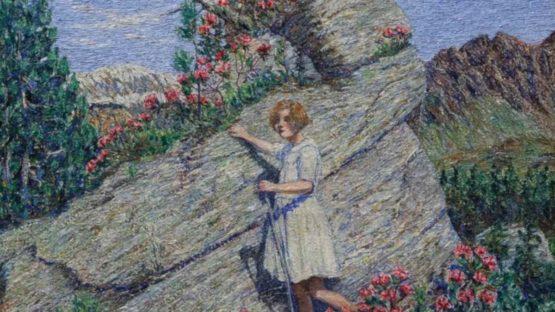 Gottardo Segantini - Roccia fiorita, 1922 (detail)