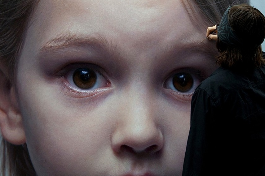 realism painters subject museums Gottfried Helnwein creating his artwork american painting photorealist